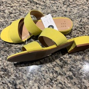 Target yellow sandals